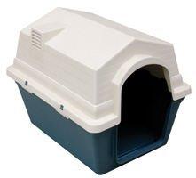 Freedog FD1000150 - Caseta Exterior, para Perro, Color Verde/Blanco lechoso