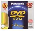 3x DVD-RAM Single-Sided Media