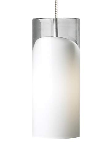 Tech Lighting 700FJHRZFS Horizon - One Light Freejack Pendant, Satin Nickel Finish with Frost Glass