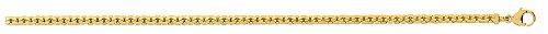 Diamantly - Bracelet Forcat Haricot 2.9 mm - or 375/1000 (9 Carats) - Femme - Fille