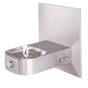 Elkay Slimline Child ADA Water Fountain, Stainless Steel, ECDFPW314C, Access Panel, Wall Hung