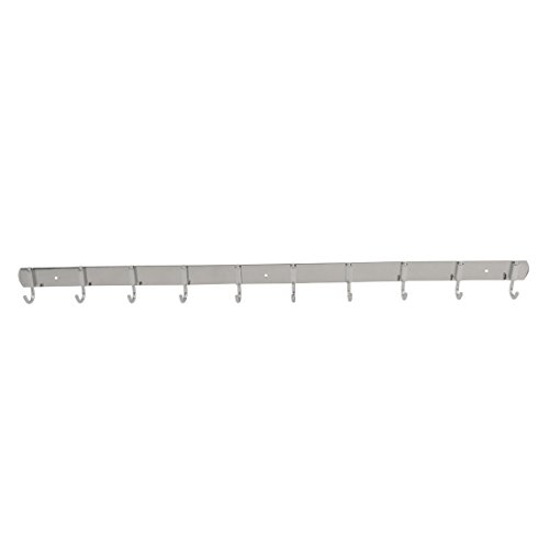 uxcell Stainless Steel Kitchen 10 Hooks Wall Mounted Cup Mug