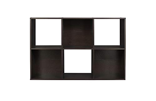 ClosetMaid 78815 Cubeicals Organizer, 6-Cube, Espresso (Living In Room Design Shelves)