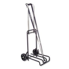 * Luggage Cart, 250lb Capacity, 12-1/4 x 13 Surface, Black/Chrome