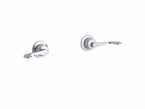 Kohler K-T7744-5-CP Triton Two-Handle Wall-Mount Valve Trim, Polished ()
