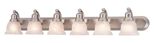 Brushed Nickel Lasalle 6 Light Bathroom Vanity Light