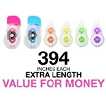 "Fullmark Model G Correction Tape, Refillable, 2 Refillable Dispensers + 6 Refills, 0.2"" X 394 Inches each refill"