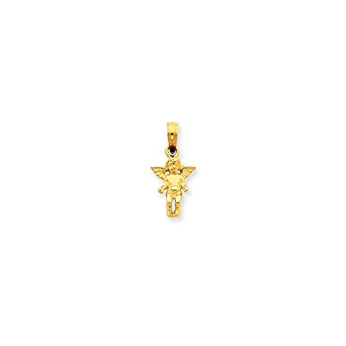 Roy Rose Jewelry 14K Yellow Gold Small Guardian Angel Pendant