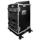 Road Ready RRM16UW 10U Slant Mixer Rack/16U Vert Rack System