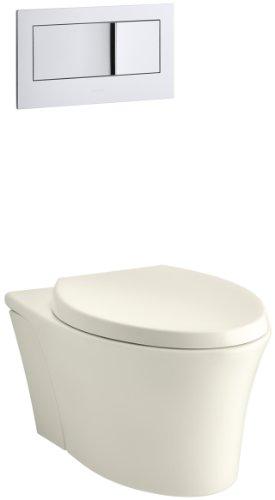 KOHLER K-6299-96 Veil Wall-Hung Elongated Toilet Bowl, (Toilet Bowl Biscuit)