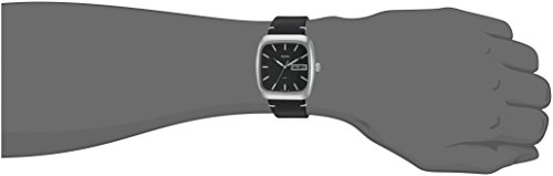 Fossil Men's FS5330 Rutherford Three-Hand Day-Date Black Leather Watch