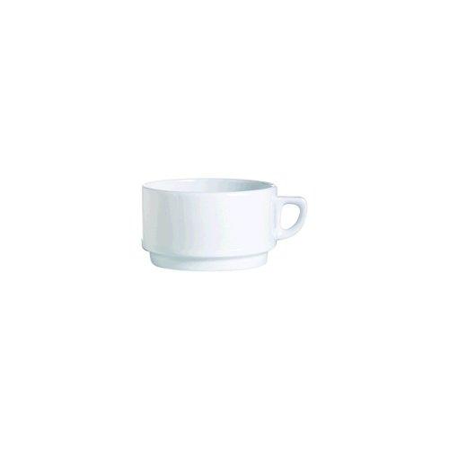 (Arcoroc R0839 Candour White Porcelain 9-3/4 Oz. Cup - 24 / CS)