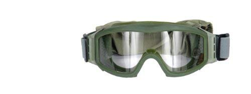 Lancer Tactical Full Seal Airsoft Safety Goggles - Clear Lens (Green)