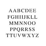 - Letter Stencil Set | 1/2 inch TIMES NEW ROMAN Font | 10 mil | Paint Stencils for Pavement and Wall Signs