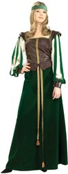 Forum Novelties Halloween Party Creepy Scary Costume Maid Marion Adult Xlarge 18-20 (Teen Maid Marion Costume)