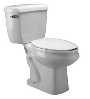 Zurn Z5561 ADA, Elongated Pressure Assist, 1.0 gpf, Two-Piece Toilet