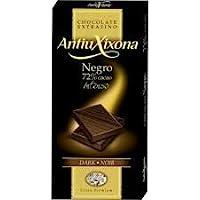 Tableta chocolate negro 72% cacao , marca Antiu
