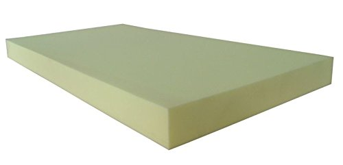33LB Upholstery Foam 6 Inch Thick Sheet 38 x 78, Conventional Polyurethane Foam Pad Made in the USA by AmericanMade Foam