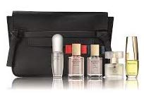 Estee Lauder 5-Piece Purse Spray Fragrance Collection for Women (Pleasures, Modern Muse Le Rouge, Modern Muse, Pure White Linen, Beautiful + Cosmetic Bag)