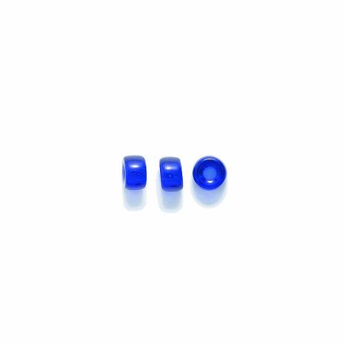 Preciosa Ornela Traditional Czech Glass Crow Roller 200-Piece Beads, 6mm, Transparent Cobalt (Crow Roller)