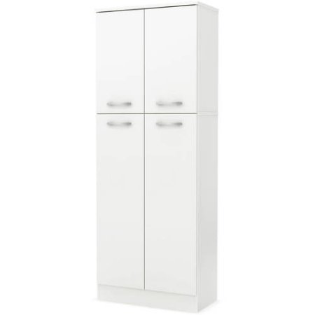 South Shore Smart Basics 4-Door Storage Pantry, Pure White by SOUTH SHORES