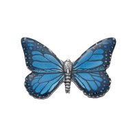 Blue Butterfly Pin - Danforth - Butterfly / Blue Pewter Scatter Pin