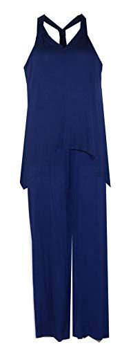 (Carole Hochman Women's Midnight Racerback Pant Lounge Set/Pajamas PJ's (Sapphire Blue, Medium))