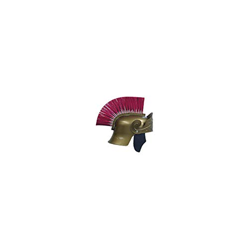 Fun Express - Roman Helmet Gold W Red Brush for Halloween - Apparel Accessories - Costume Accessories - Wigs & Beards - Halloween - 1 -
