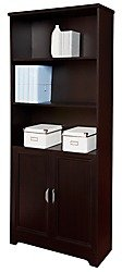 Realspace Magellan Collection 5-Shelf Bookcase With Doors, E