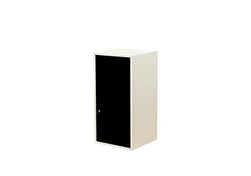 キューブBOX鍵付ロッカーハイタイプ 扉付き収納 ブラック JAC-06BK B079ZLH2G3