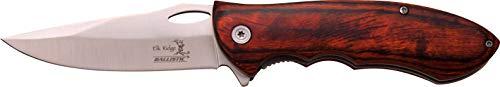 Elk Ridge ER-A159SW-MC ER-A159SW Folder Knife with Black Pocket Clip Pakkawood Handle, ()