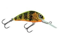 (Salmo Hornet lure crankbait gold fluo perch GFP, super deep runner 5cm - 7g)