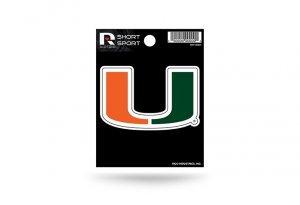 - Rico Industries NCAA Miami Hurricanes Die Cut Team Logo Short Sport Sticker