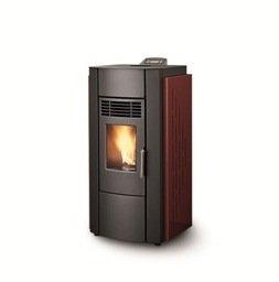 palazzetti 6 kW estufa de pellets Chimenea de madera, color rojo