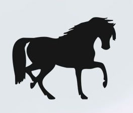 (Vinyl Wall Decal Sticker uBer Decals Horse 7 799 36x43 inches - Light Blue)