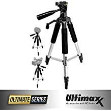Ultimaxx 57'' Inch Lightweight Portable Camera Tripod Stand with Carrying Bag for All DSLR Cameras and Camcorders