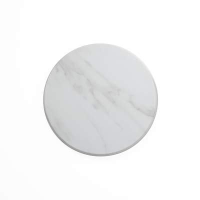 American Metalcraft MW14 Marble Melamine Serving Board, Round, White, 14-Inch Diameter