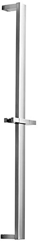 WS Bath Collections Square Sliding Shower Rail, Chrome by WS Bath Collections