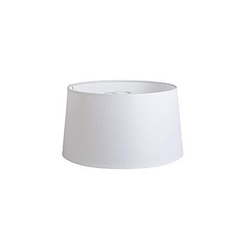 QAZQA Lino Pantalla 40cm cónica DS E27 lino blanca, Redonda ...