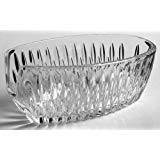 Princess House 24% Lead Crystal Highlights Pattern Clear Glass Spoon Rest or Utensil Holder Made in Germany