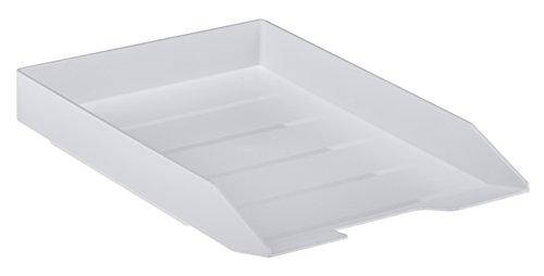 Acrimet Stackable Front Load Letter Size Tray Plastic Desktop File Organizer (White Color) (1 Unit)