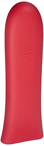Victoria ACC-503 Silicone Cast Iron Handle Cover. For 10 to 12 inch Skillets, Large, Red