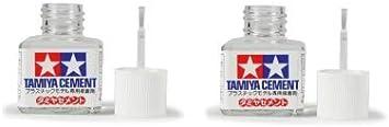 Tamiya 87003. Pack 2 botes de pegamento para maquetas con pincel aplicador