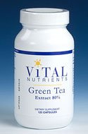 Vital Nutrients Green Tea Extract 80% Catechins 275mg 120 Capsules