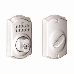 Schlage BE365-CAM Camelot Electronic Keypad Single Cylinder Deadbolt, Aged Bronze ()