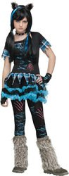 [Fun World Costumes Women's Wick'D Wolfie Teen Costume, Black/Blue, One Size] (Wickd Wolfie Teen Costumes)