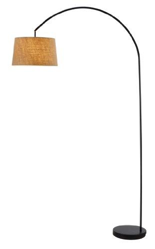 1 Light Arc Lamp - Adesso 5098-01 Goliath 1 Light Arc Lamp in Black