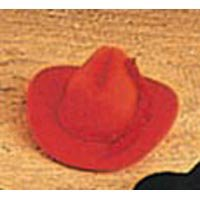 Miniature Red Flocked Cowboy Hats with Rope Trim- Package of 12 by Darice