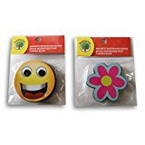 Erase Board Flower Dry (Cute Mini Magnetic Whiteboard Eraser Bundle - Flower and Smiley Face)
