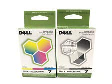 Inkjet Dell Printer Toner (2 Pack Dell Series 7 Ink Cartridge Combo DH828 DH829 (1 Black 1 Color) All-In-One Printer Genuine Dell Ink Cartridges)